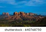 sedona landscape | Shutterstock . vector #640768750