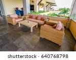 lobby  gallery  lounge area of... | Shutterstock . vector #640768798