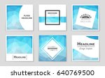 abstract vector layout... | Shutterstock .eps vector #640769500