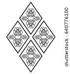 diamond pattern decoration... | Shutterstock . vector #640776100