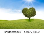 tree in the shape of heart ... | Shutterstock . vector #640777510