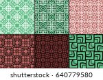 set of 6 modern geometric... | Shutterstock .eps vector #640779580