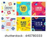 memphis style 6 cards.... | Shutterstock .eps vector #640780333
