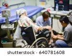 blurred of eeg electrode...   Shutterstock . vector #640781608
