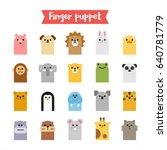 finger animal puppet toy vector ... | Shutterstock .eps vector #640781779