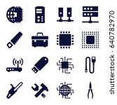 hardware icons set. set of 16... | Shutterstock .eps vector #640782970