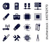 hardware icons set. set of 16... | Shutterstock .eps vector #640782970