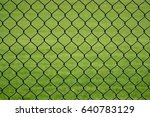 Black Chain Link Fence With...
