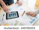 team work process. young... | Shutterstock . vector #640783453