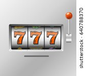 realistic slot machine with... | Shutterstock .eps vector #640788370