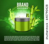 cosmetic ads template. tube of...   Shutterstock .eps vector #640790428