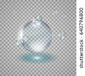 water drops realistic 3d... | Shutterstock . vector #640796800