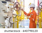 offshore oil and gas... | Shutterstock . vector #640798120