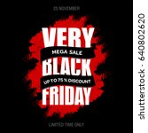 black friday sale inscription... | Shutterstock . vector #640802620