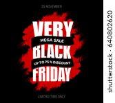 black friday sale inscription... | Shutterstock . vector #640802620