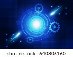blue background abstract... | Shutterstock .eps vector #640806160