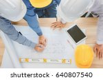 architect and businessman... | Shutterstock . vector #640807540