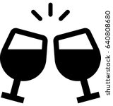toasting vector icon   Shutterstock .eps vector #640808680