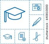 degree icon. set of 6 degree... | Shutterstock .eps vector #640810000