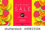 summer sale announcement ... | Shutterstock .eps vector #640815106