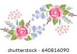 floral border with rose  bell...