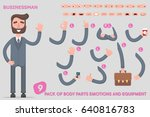 parts body template for design... | Shutterstock .eps vector #640816783