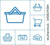 purchase icon. set of 6... | Shutterstock .eps vector #640819384