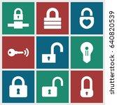 padlock icons set. set of 9... | Shutterstock .eps vector #640820539