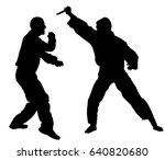 self defense battle vector... | Shutterstock .eps vector #640820680