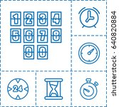 minute icon. set of 6 minute... | Shutterstock .eps vector #640820884