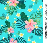 tropical seamless pattern with... | Shutterstock .eps vector #640822210