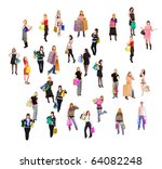 shopping chaos | Shutterstock . vector #64082248