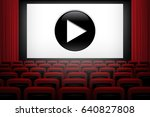 movie theater background with... | Shutterstock .eps vector #640827808