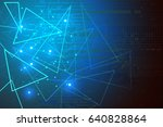 blue background abstract... | Shutterstock .eps vector #640828864