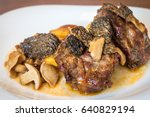 close up shot of plate with... | Shutterstock . vector #640829194