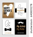 happy father's day greetings... | Shutterstock .eps vector #640835278