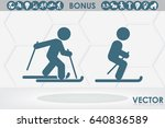 skiing icon vector illustration ...   Shutterstock .eps vector #640836589