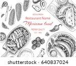 vector illustration sketch  ... | Shutterstock .eps vector #640837024