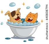 pet grooming and spa. dog and...   Shutterstock .eps vector #640838794