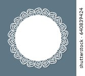 round decorative frame with...   Shutterstock .eps vector #640839424