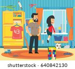 the child is playing... | Shutterstock .eps vector #640842130