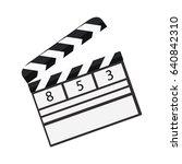 film clap icon | Shutterstock .eps vector #640842310