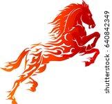 Stock vector horse power hot flame 640842349