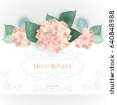 vector flower wedding... | Shutterstock .eps vector #640848988