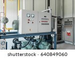 room with control box and... | Shutterstock . vector #640849060