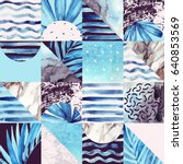 abstract squares and triangles... | Shutterstock . vector #640853569