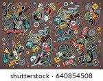 vector hand drawn doodle... | Shutterstock .eps vector #640854508
