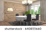 interior dining area. 3d... | Shutterstock . vector #640855660