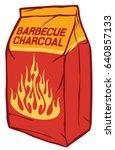 charcoal paper bag vector... | Shutterstock .eps vector #640857133