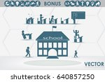 school icon vector illustration ... | Shutterstock .eps vector #640857250